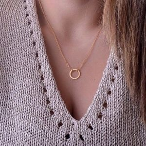 Jewelry - 4/$25 Minimalist Gold Ring Necklace